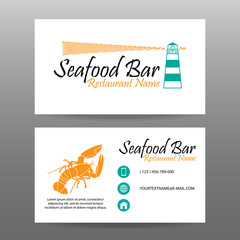 Business card vector background,Restaurant staff