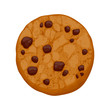 Chocolate chips cookie vector illustration. - 81495116