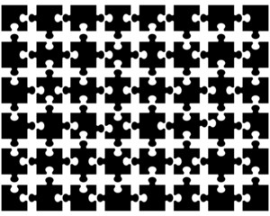 Vector illustration of black puzzle