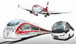 Bus, Reisebus, Flugzeug, Schnellzug, Transport, Verkehrsmittel - 81495398