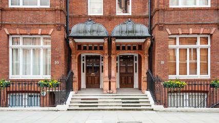 Chelsea elegant apartment building. London, United Kingdom.