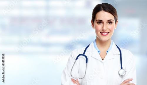Medical doctor woman. - 81495393