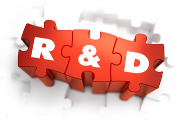 Research and Development - White Word on Red Puzzles.