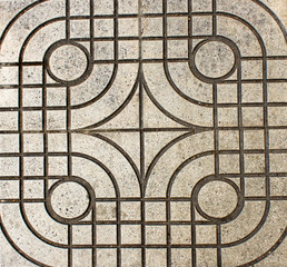 grunge square street cement tile