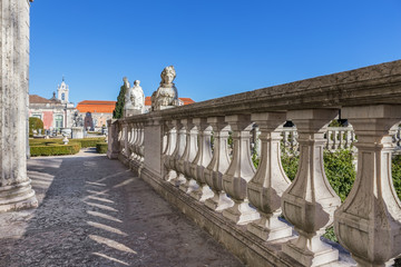 Architectural detail of castle Queluz of king. Sintra Portugal.
