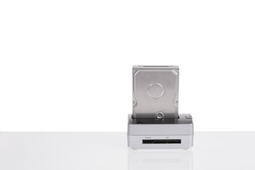 Dock station to-read hard drives. backup data. HDD.