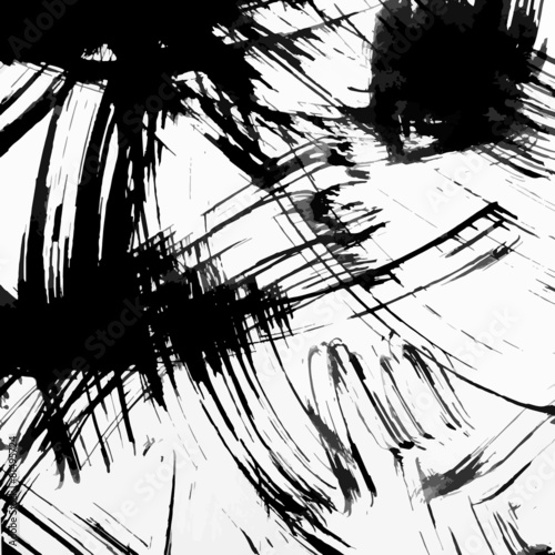 Abstract ink grunge texture vector © shooarts