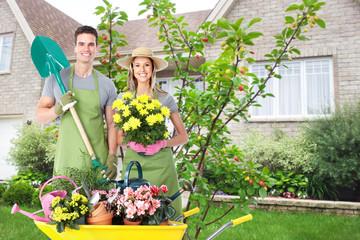 Gardening people.