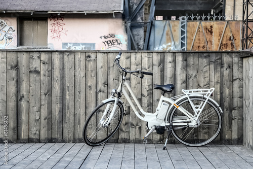 Deurstickers Fiets fashion electric bicycle