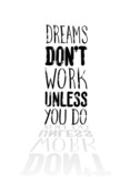 Fototapety Motivational vector with dream text