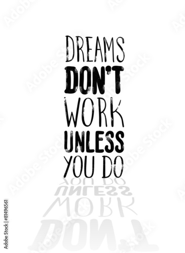 Fototapeta Motivational vector with dream text