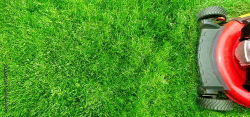 canvas print picture Lawn mower.