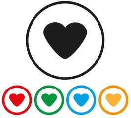 cuore e simboli d'amore