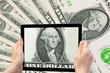 US dollar banknotes concept