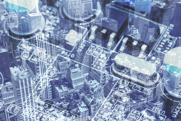 New York City and the Computer motherboard collage