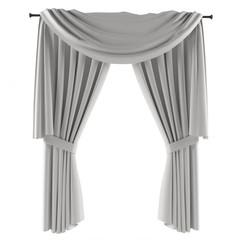white grey curtain