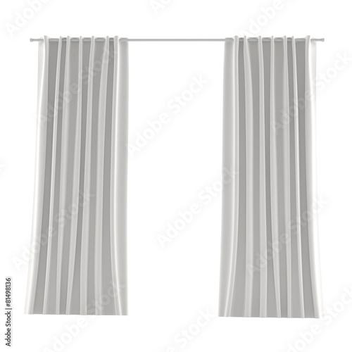 white grey curtain - 81498136