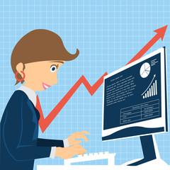businesswoman computer work