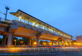 Xinzhuang railway station in hsinchu at night