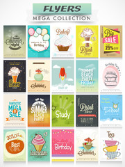 Big set of different Flyers for your business.