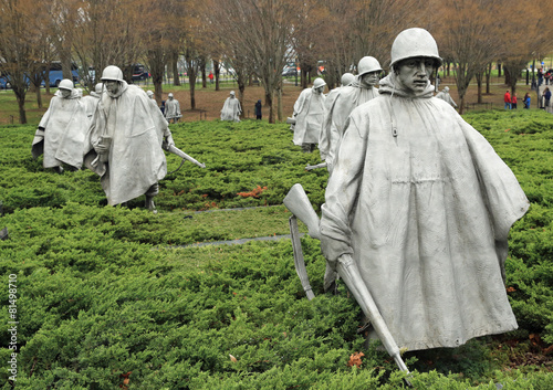 Deurstickers Standbeeld Korean War Veterans memorial