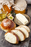 Tasty breakfast: sweet homemade buns