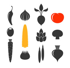 Vegetable. Icon set