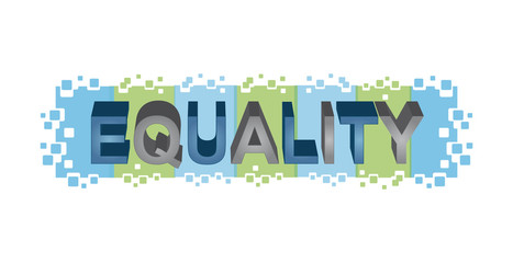 Equality word design