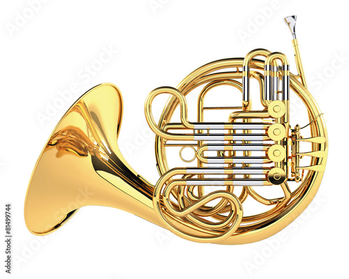 Double French Horn isolated - 81499744