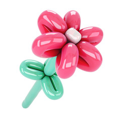 Flower from balloons