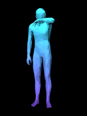 abstract man body