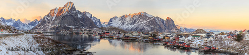 canvas print picture fishing towns in norway