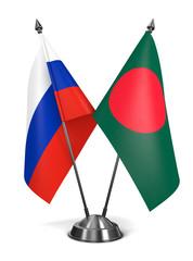 Russia and Bangladesh - Miniature Flags.