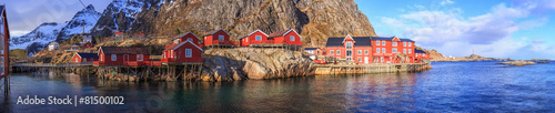 Fotobehang Poort fishing villages in norway