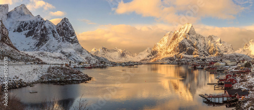 Foto op Canvas Poort fishing towns in norway