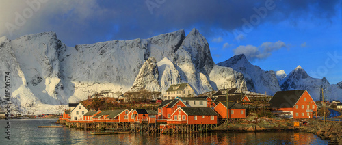 Aluminium Poort fishing villages in norway