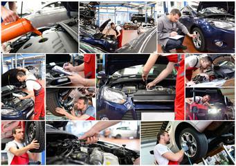 Automechaniker in der Werkstatt, Reparatur PKW