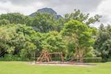 Childrens playground in the Kirstenbosch Botanical Gardens poster