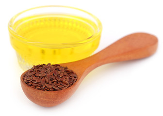 Flax seeds with oil