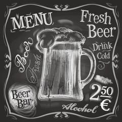 pub vector logo design template. beer mug or menu board icon.