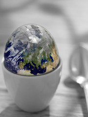 Earth shell. Earth in this montage provided by NASA