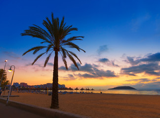 Mallorca sunrise in Magaluf Palmanova beach