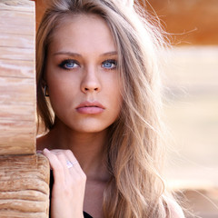 Young beautiful blonde woman