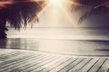 Luxury infinity pool on the Maldives