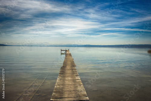 Holzsteg am See