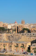 Cruise port and city. Valletta, Malta