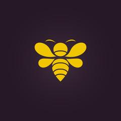Bee logo vector