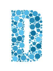 ALPHABET ICONS (letter D graphic design lettering)