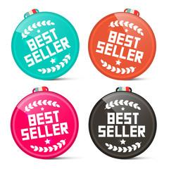 Best Seller Circle Medals Retro Vector Set