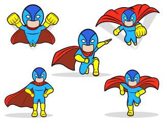 An illustration of a Superhero Set